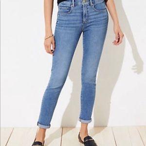Ann Taylor Loft Curvy Skinny Crop Jean